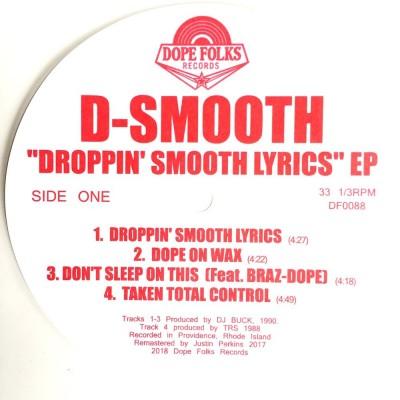 D-Smooth - Droppin' Smooth Lyrics EP