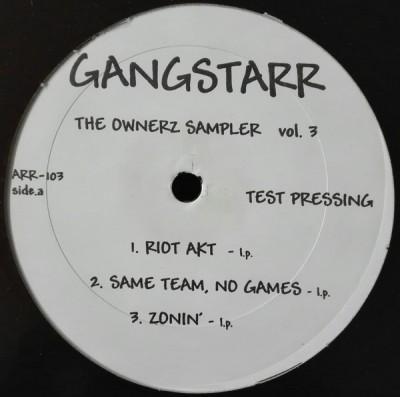 Gang Starr - The Ownerz Sampler  Vol. 3