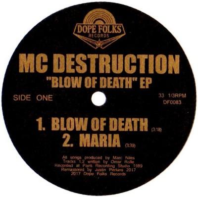 MC Destruction - Blow Of Death EP