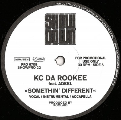 KC Da Rookee - Somethin' Different / Watch Dis