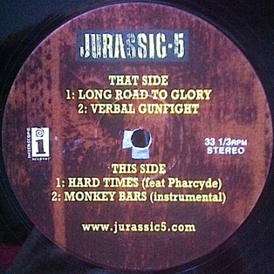 Jurassic 5 - Long Road To Glory / Verbal Gunfight / Hard Times / Monkey Bars