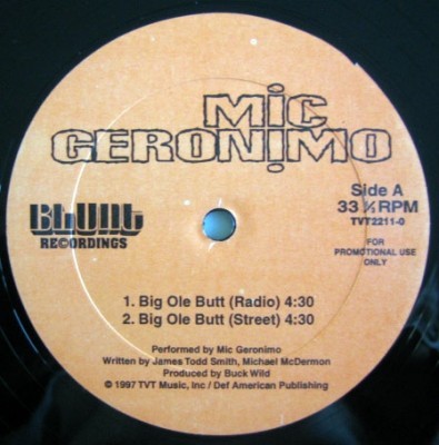 Mic Geronimo - Big Ole Butt