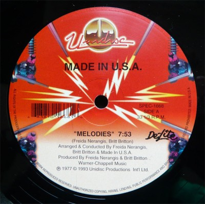 Made In USA - Melodies / Shake Your Body