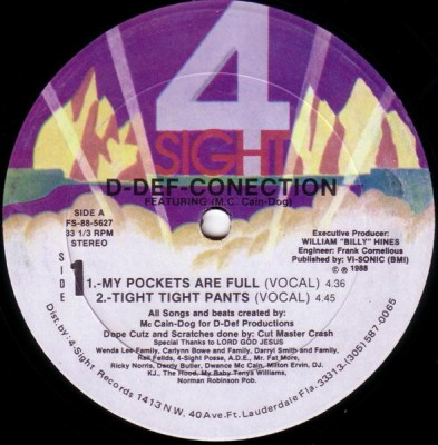 D-Def-Conection Featuring M.C. Cain-Dog - My Pockets Are Full