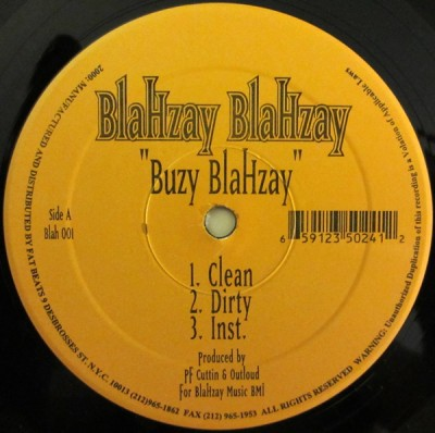 Blahzay Blahzay - Buzy Blahzay / Ice Grillz