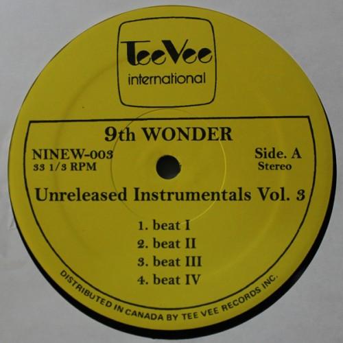 Resultado de imagen para 9th Wonder - Unreleased Instrumentals