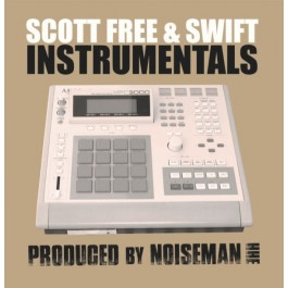 Scott Free & Swift - Instrumentals LP (Sea Foam With White/Black Splatters Coloured Vinyl)