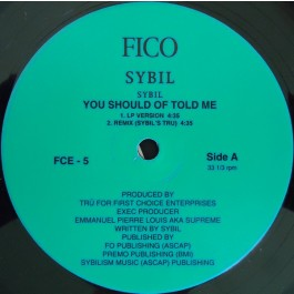 Sybil - You Should Of Told Me