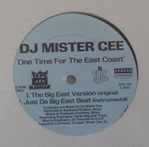 Mister Cee - One Time For The East Coast / Getta Grip Muthaphuckas