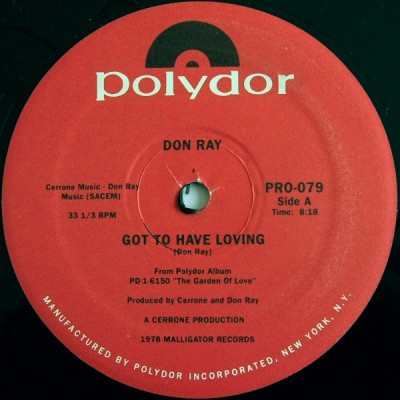 Don Ray - Got To Have Loving / Standing In The Rain