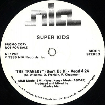 Super Kids - The Tragedy (Don't Do It)