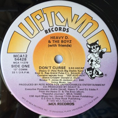 Heavy D. & The Boyz - Don't Curse / You Can't See What I Can See
