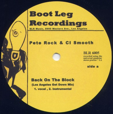 Pete Rock - Back On The Block (Los Angeles Get Down Mix) / Rhymin' With The Bonz