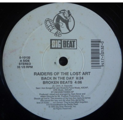Sam Sever And The Raiders Of The Lost Art - Back In The Day