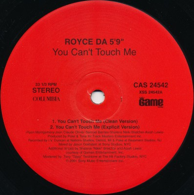 "Royce Da 5'9"" - You Can't Touch Me"