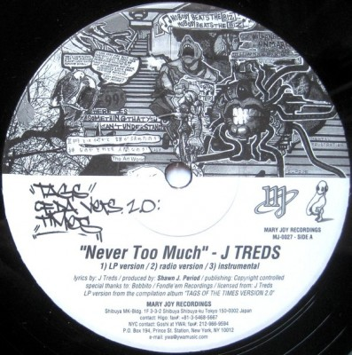 J-Treds - Never Too Much / Narcotic