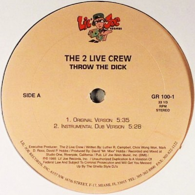 The 2 Live Crew - Throw The Dick