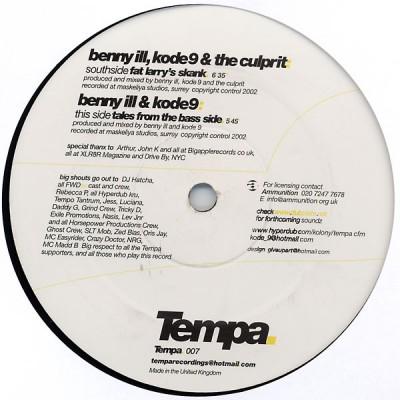 Benny Ill, Kode9 & The Culprit - Fat Larry's Skank / Tales From The Bass Side