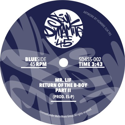 Mr. Lif - Return of The B​-​Boy (Azure Blue Vinyl Edition)