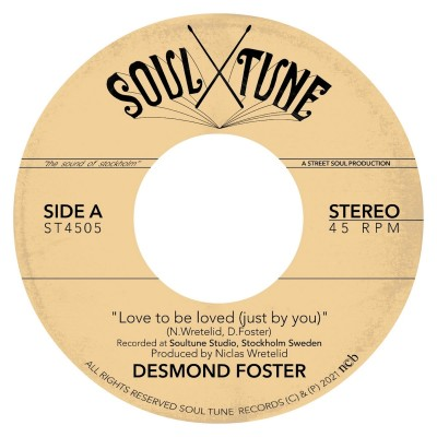 Desmond Foster - Love To Be Loved (Just By You) / Love Burns