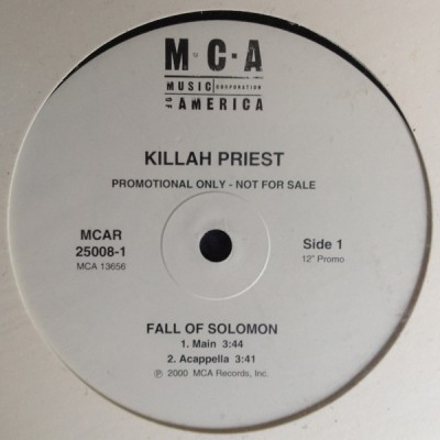 Killah Priest - Fall Of Solomon