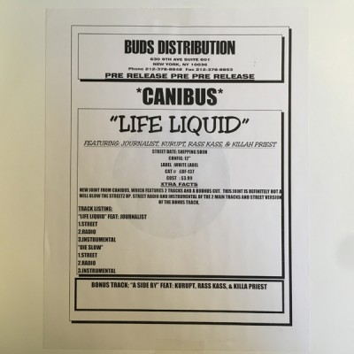 Canibus - Life Liquid / Die Slowly / Abide By