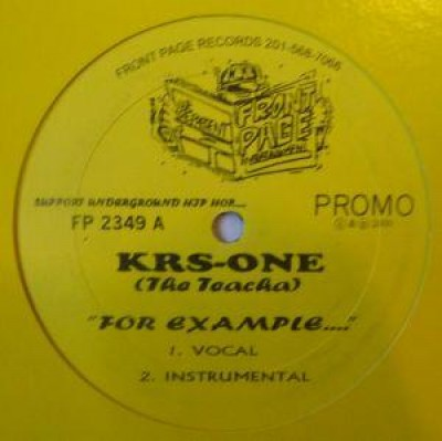KRS-One - For Example .... / Tell The Devil Ha!
