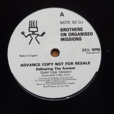Brothers On Organised Missions - Delivering Tha Answer