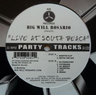 Big Will Rosario - Live At South Beach