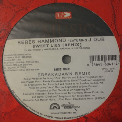 Beres Hammond Featuring J Dub - Sweet Lies Remix