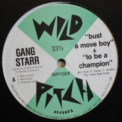 Gang Starr - Bust A Move Boy