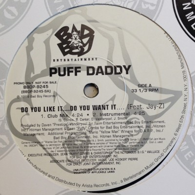 Puff Daddy - Do You Like It....Do You Want It....