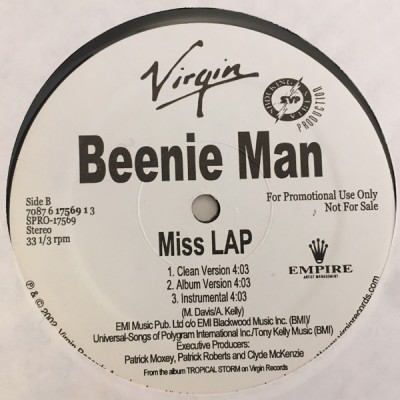 Beenie Man - Party Hard / Miss LAP