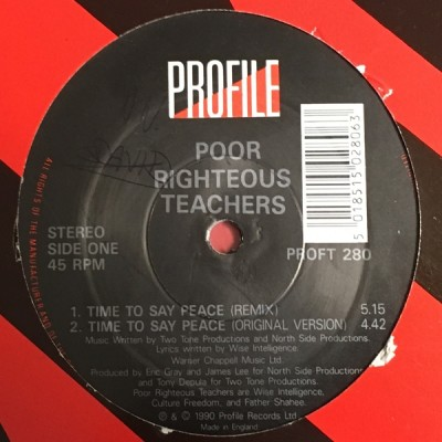 Poor Righteous Teachers - Time To Say Peace / Butt Naked Booty Bless