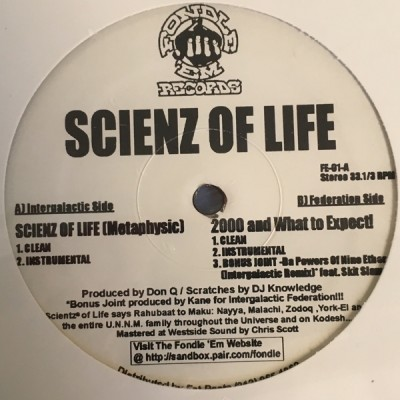 Scienz Of Life - Scienz Of Life (Metaphysic)