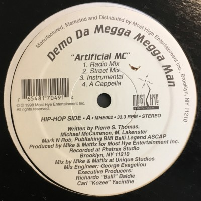 Demo Da Megga Megga Man - Artificial MC / Never Gonna Rap Again