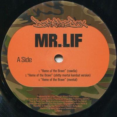 Mr. Lif - Home Of The Brave b/w The Unorthodox