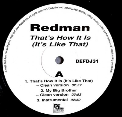 Redman - That's How It Is (It's Like That)