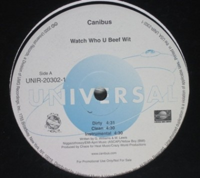 Canibus - Watch Who You Beef Wit