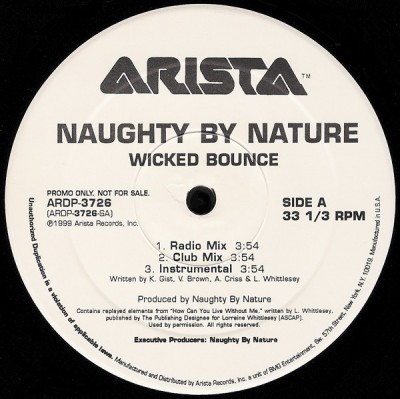 Naughty By Nature - Wicked Bounce / The Blues
