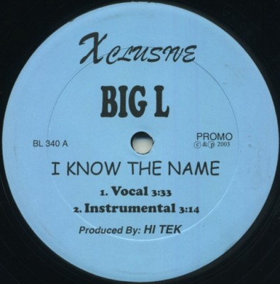 Big L - I Know The Name