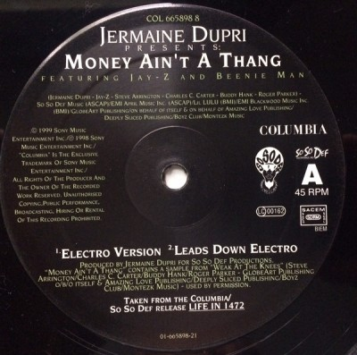 Jermaine Dupri - Money Ain't A Thang
