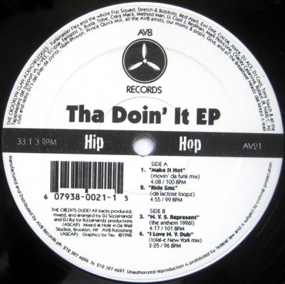 Crooklyn Clan - Crooklyn Clan Presents: Tha Doin' It EP