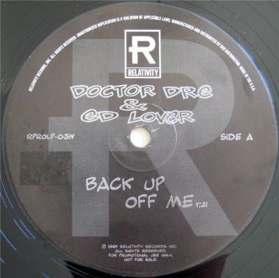 Doctor Dré & Ed Lover - Back Up Off Me