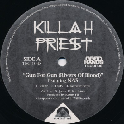 Killah Priest - Gun For Gun (Rivers Of Blood) / Happy