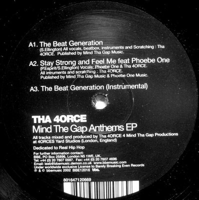 4orce - Mind The Gap Anthems EP