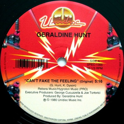 Geraldine Hunt - Can't Fake The Feeling
