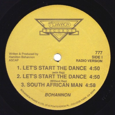 Hamilton Bohannon - Let's Start The Dance