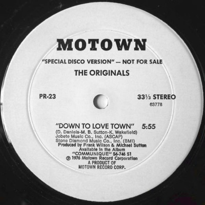 The Originals / Tata Vega - Down To Love Town / Full Speed Ahead