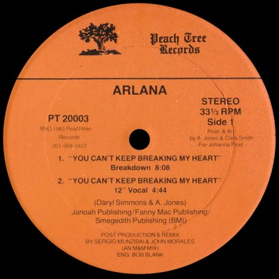 Arlana - You Can't Keep Breaking My Heart